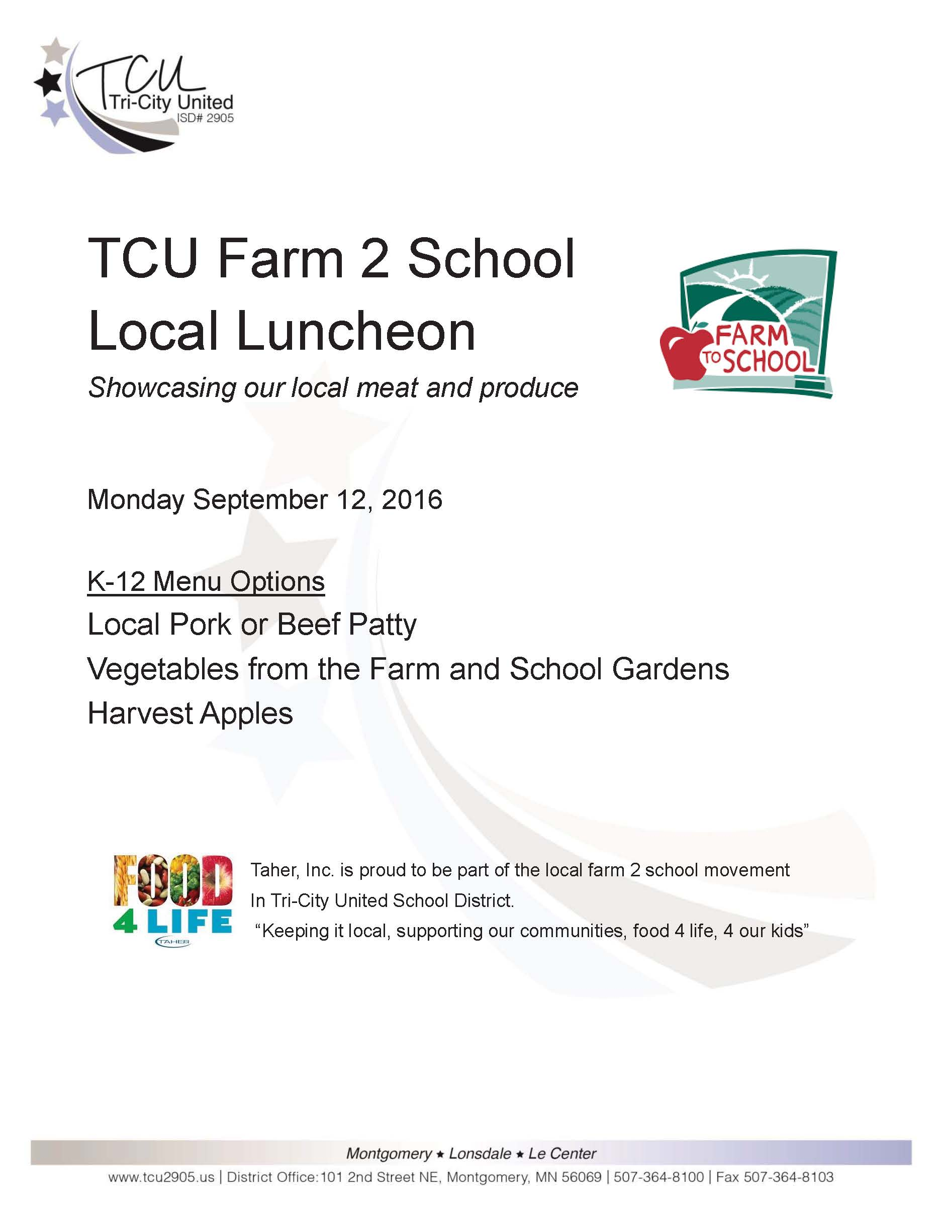 Farm to School Luncheon