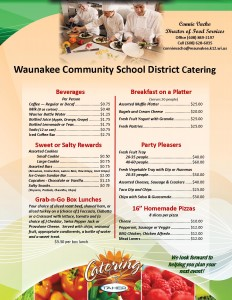 Waunakee Catering Guide Full Sheet Oct 2016